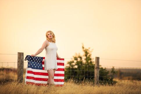 teen fashion US flag