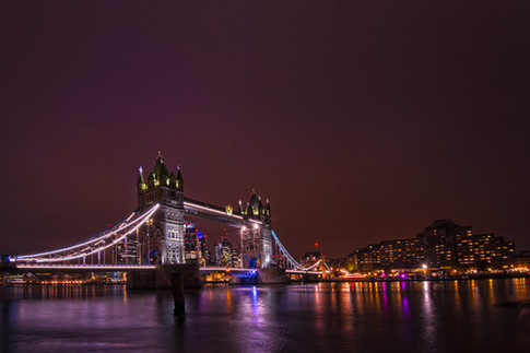 Tower bridge London Nightime