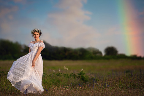 Princess rainbow background
