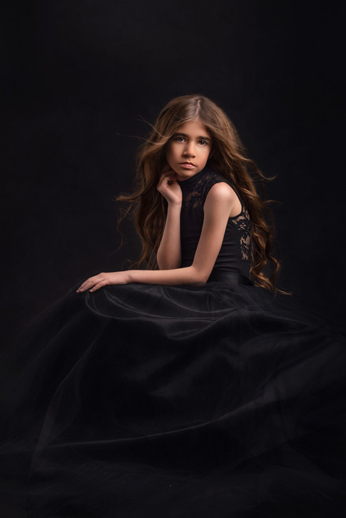 Princess in black dress