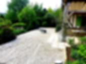 allée gravillonée terrasse