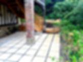 dalle gravillonnée terrasse