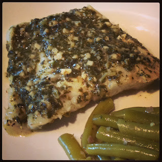 Foil Baked Sea Bass with Pesto
