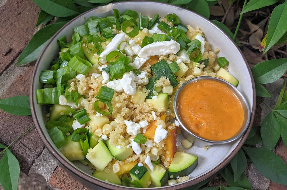 Chipotle Peach Quinoa Salad