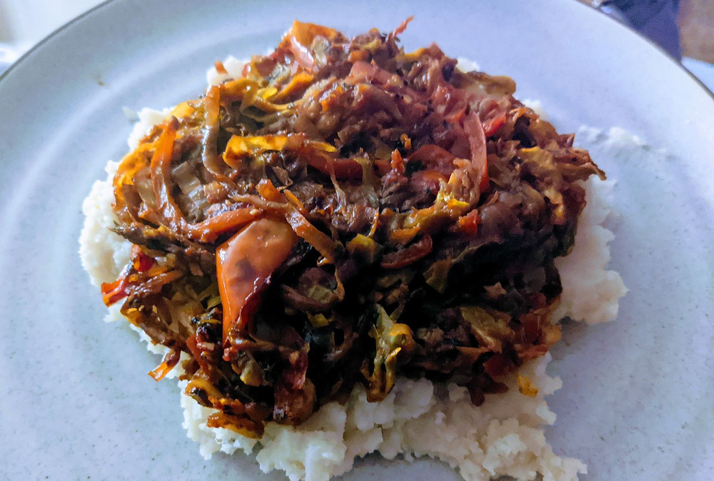 Stewed Cabbage with Peppers
