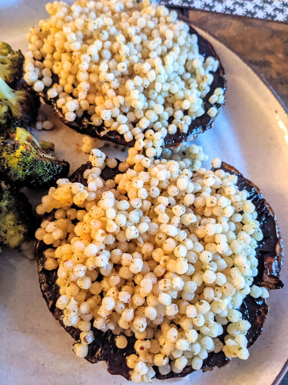 Couscous Stuffed Portobello Mushrooms