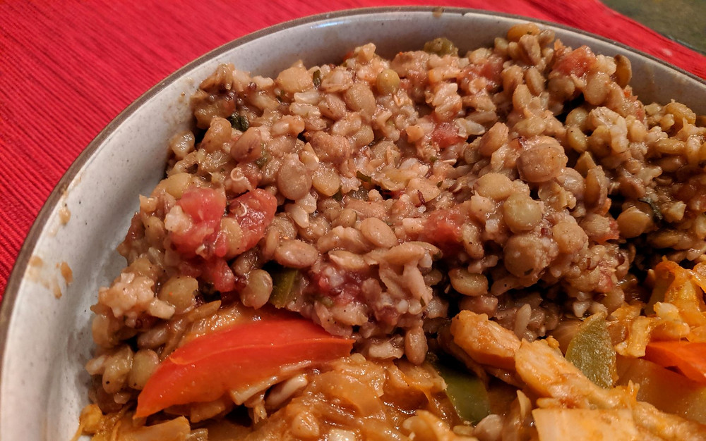 mexican rice and lentils