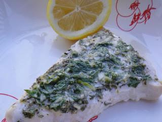 Grilled Swordfish with Lemon, Mint & Basil