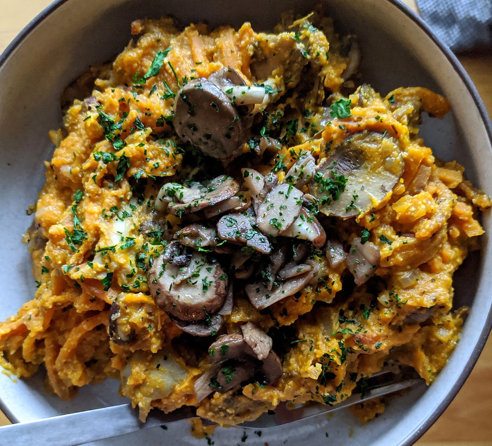 Pumpkin Pasta Sauce with Wild Mushrooms
