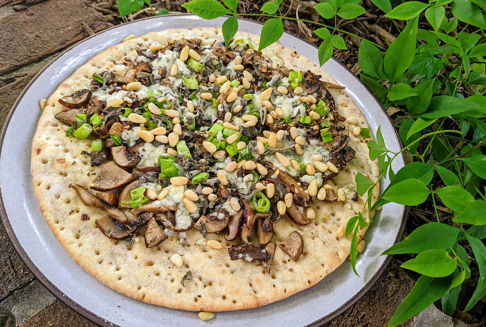Blue Cheese & Mushroom Pizza