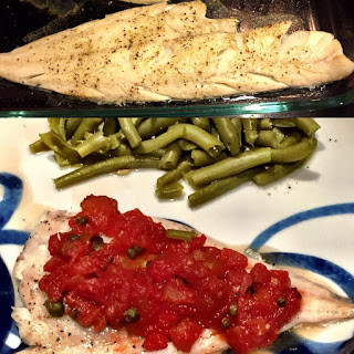 Broiled Haddock with Tomatoes & Capers
