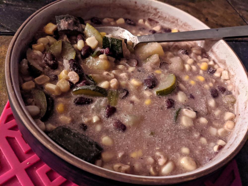 zucchini corn black bean soup