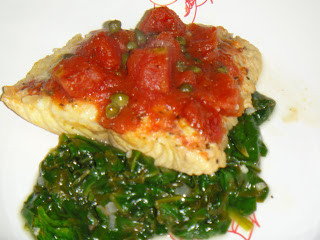 Red Snapper in Acqua Pazza with Wilted Spinach
