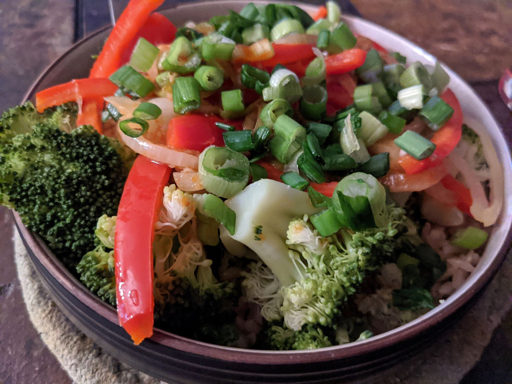 broccoli pepper bowls