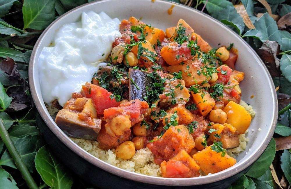 Moroccan Chickpea & Butternut Squash Stew