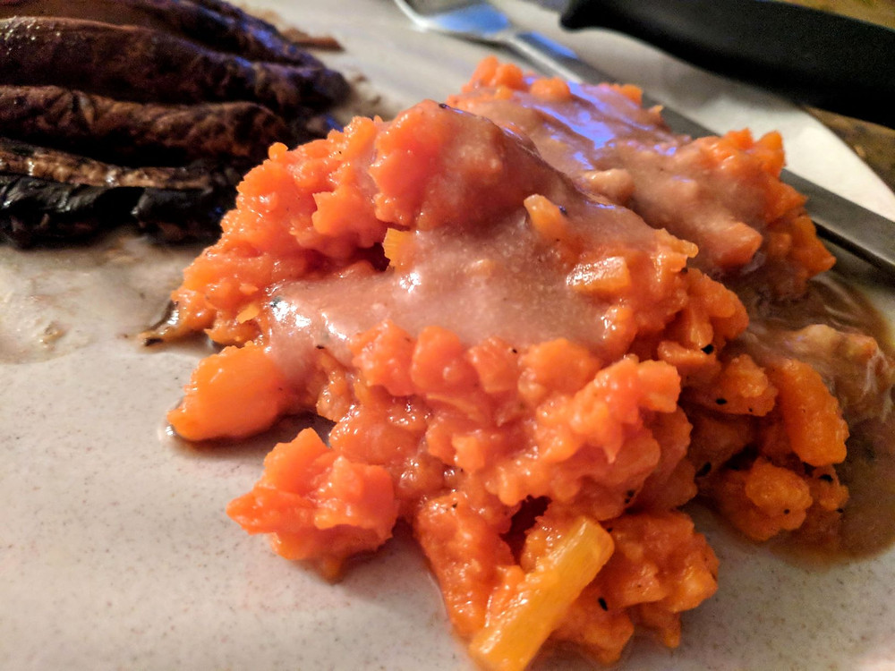 mashed carrots
