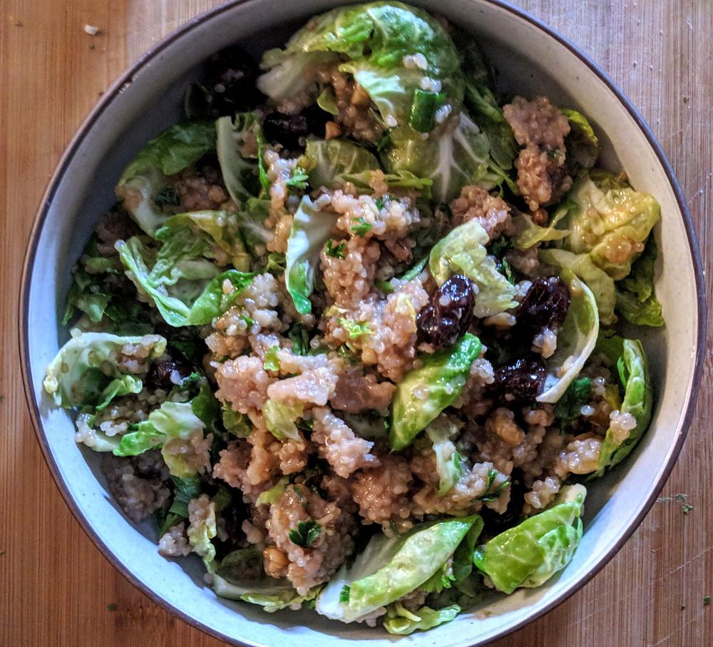 Brussel Sprouts Quinoa Salad