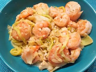 Shrimp & Scallop Zucchini Noodle Scampi