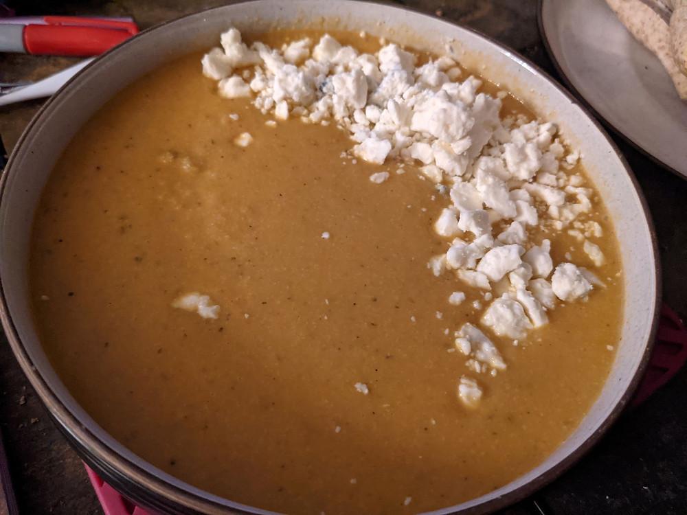 Buffalo Cauliflower Soup