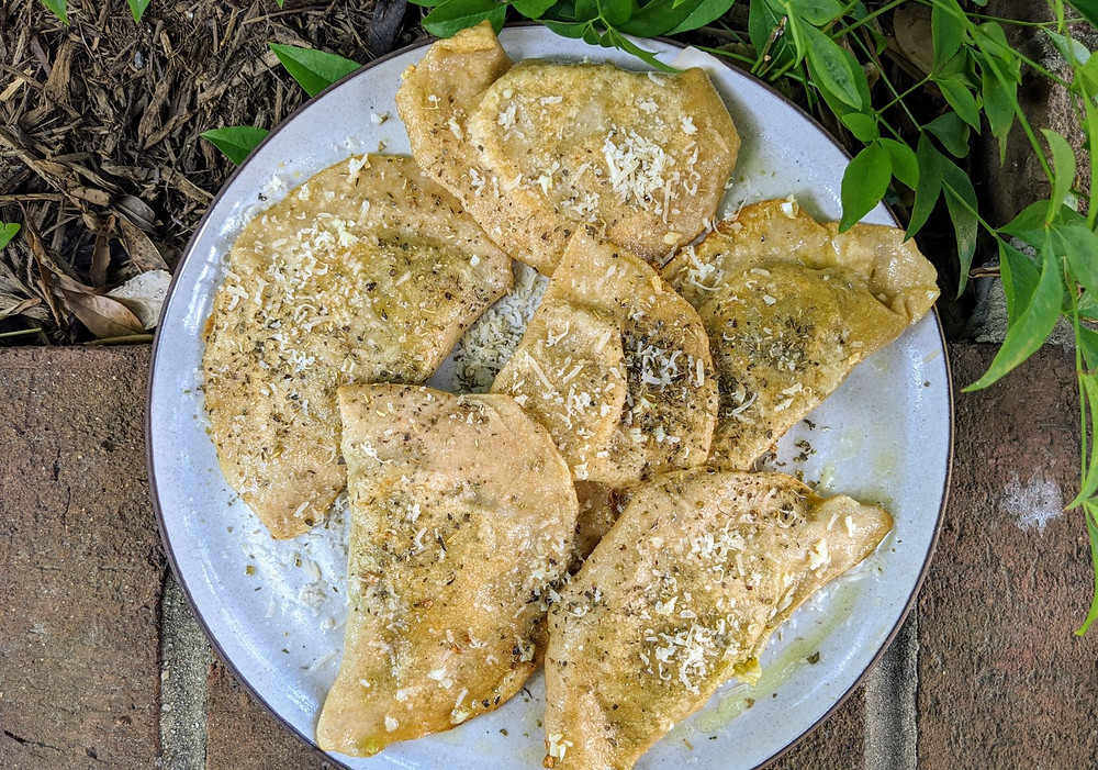 Creamy Kale Polenta Pierogies
