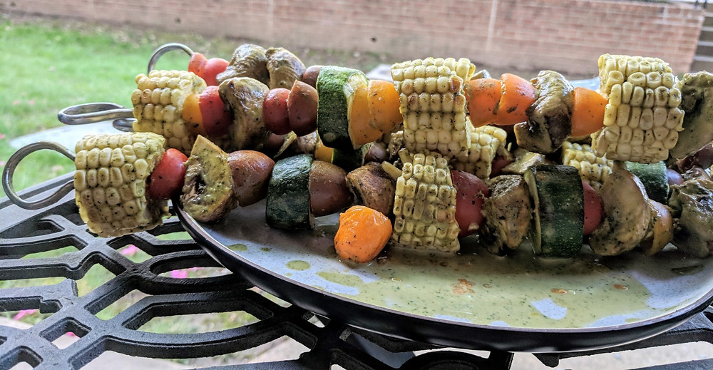 Vegetable Peanut Skewers
