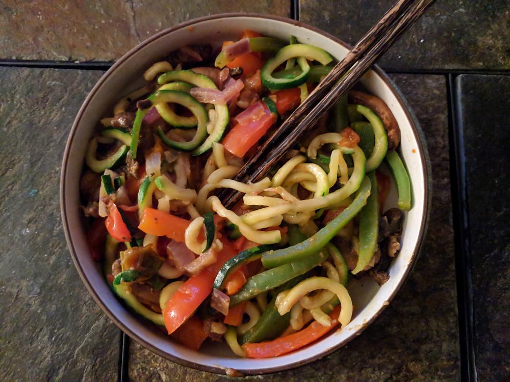 Cajun Zucchini Noodles