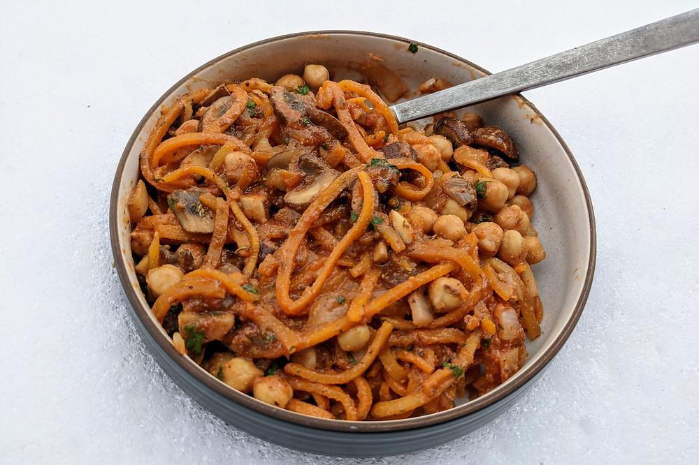 Butternut Squash Noodle Skillet