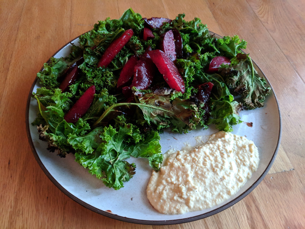 Grilled Kale Salad