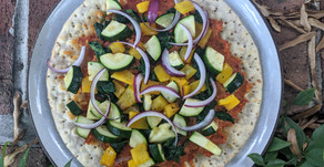 Sun Dried Tomato and Grilled Veggie Pizza