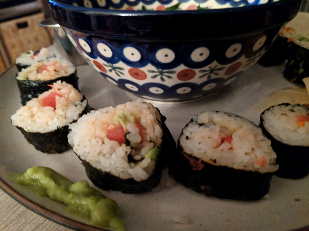 tomato lox sushi