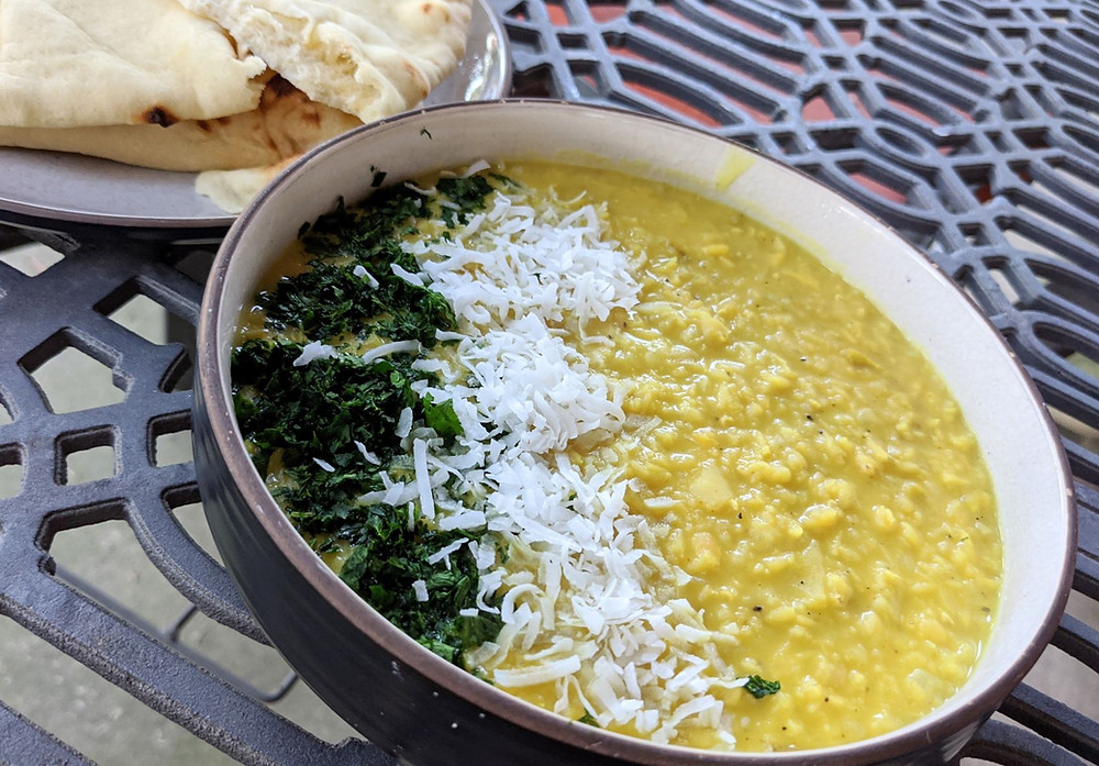 Coconut, Apple and Ginger Dal