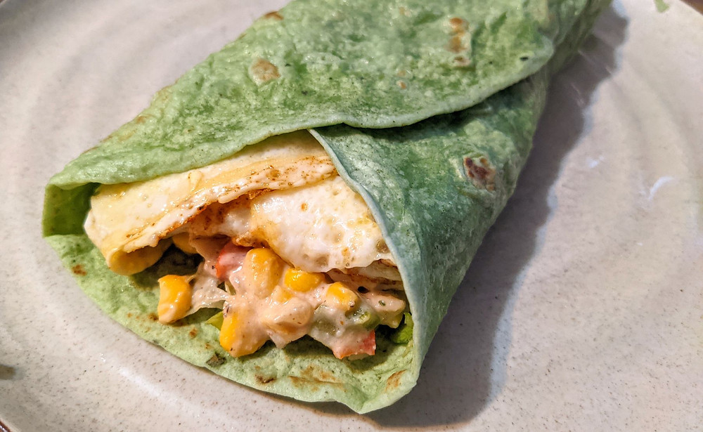 Leftovers Idea: Maque Choux Breakfast Wrap