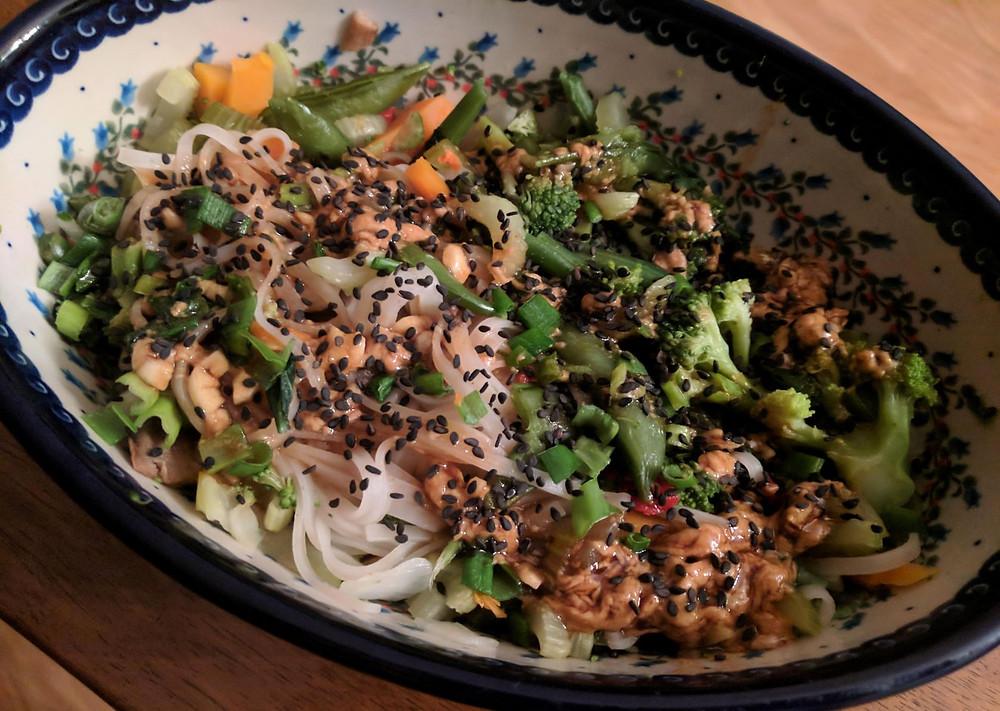 lazy thai noodles