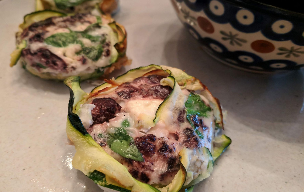 zucchini egg white cups