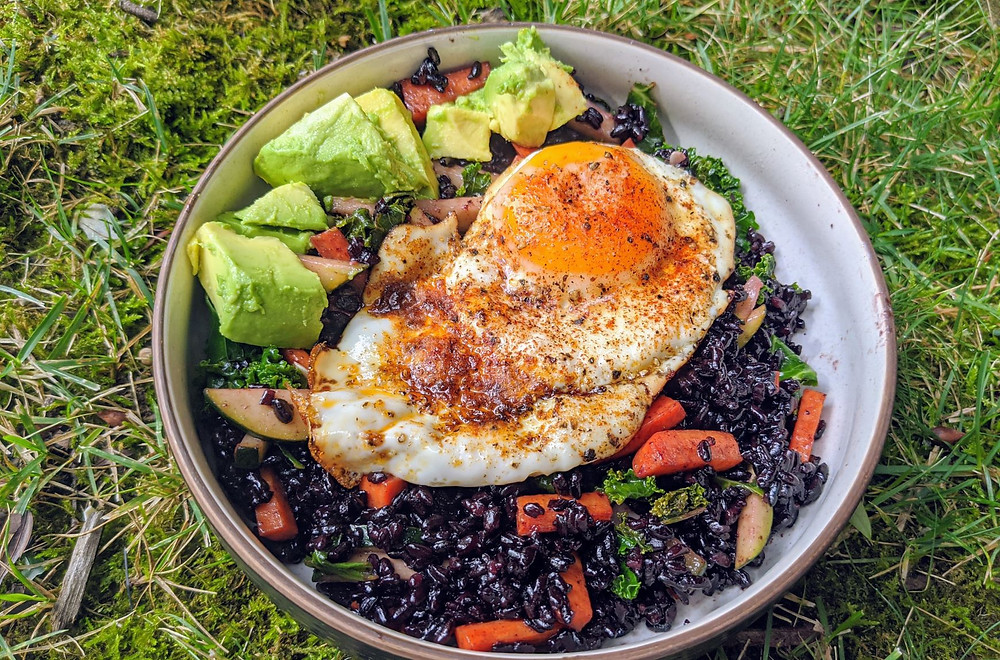 Crispy Black Rice Breakfast Bowl