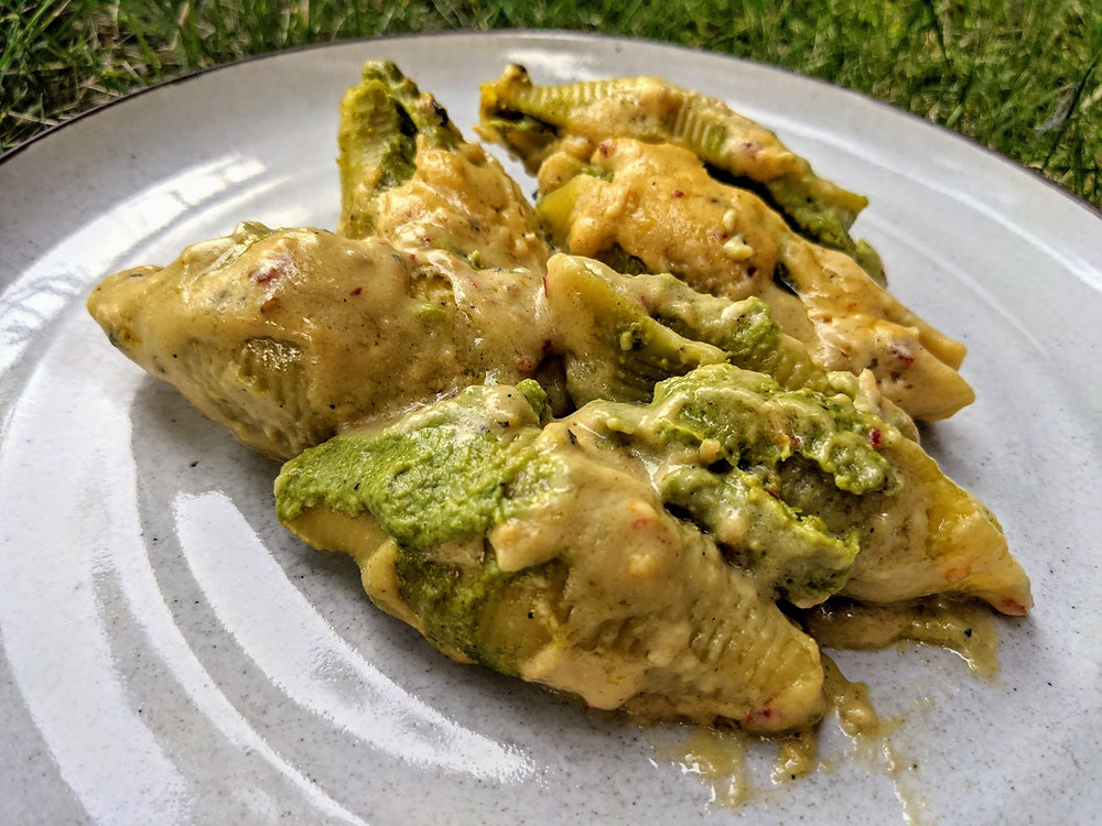 Cashew Ricotta & Spinach Stuffed Shells