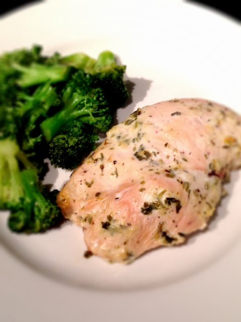 Greek Chicken with Sauteed Broccoli