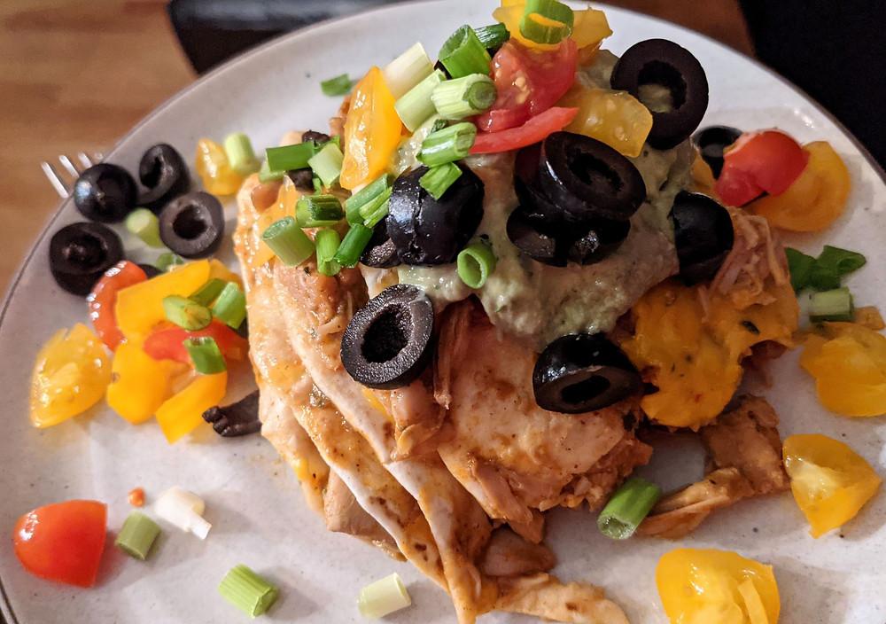 Jackfruit Enchilada Pie