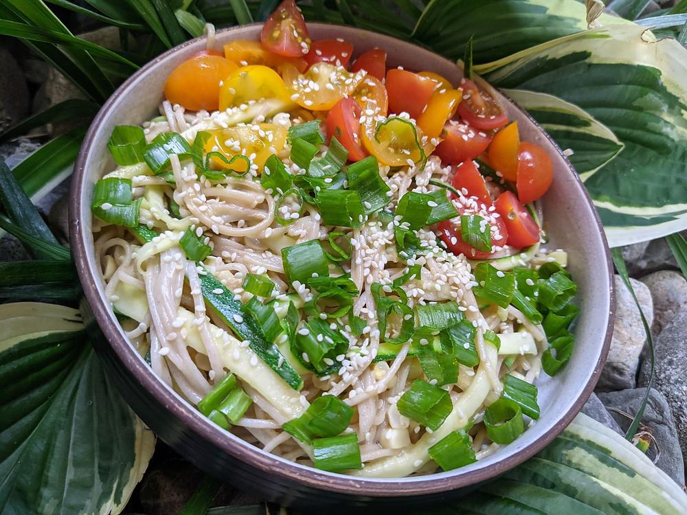 Summer Veggie Soba Noodles