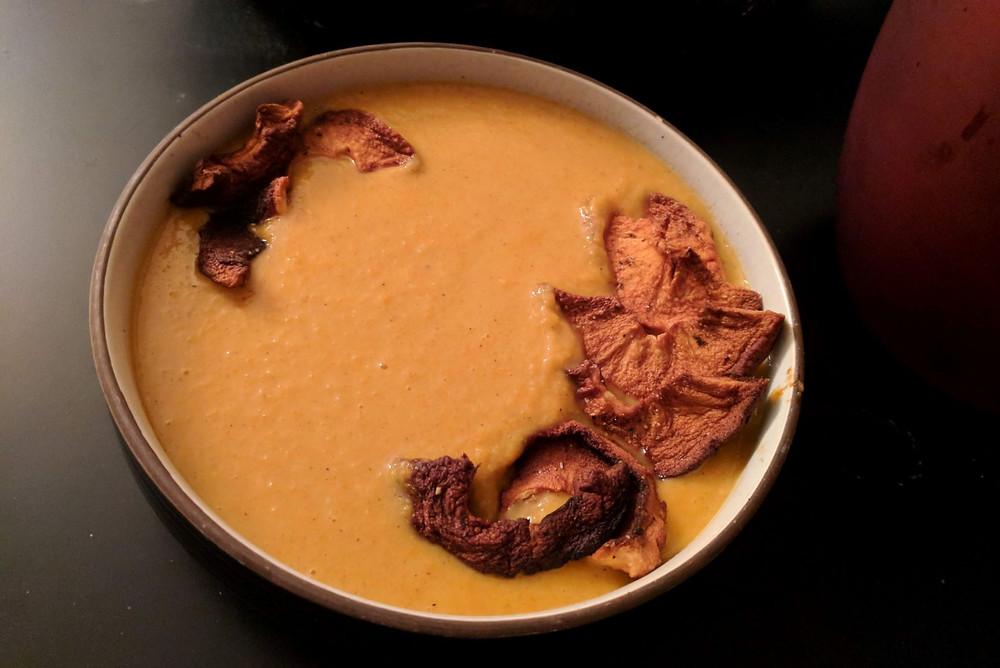 carrot coconut mango soup