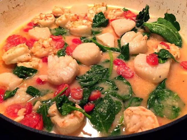 Broiled Shrimp & Scallops