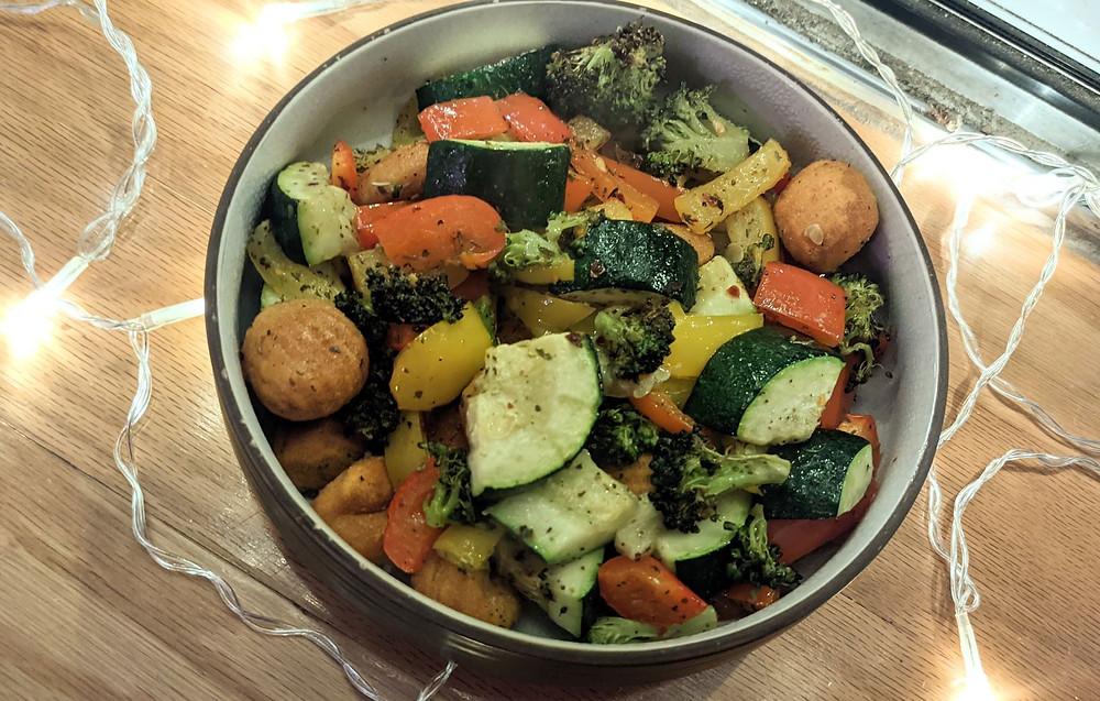 Baked Sweet Potato Gnocchi & Veggies