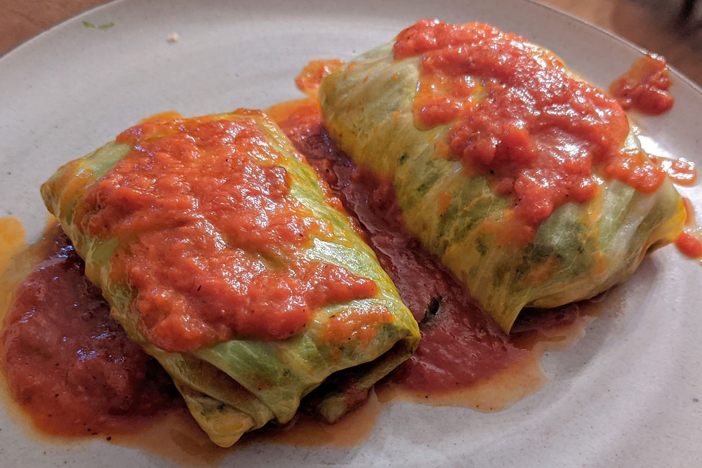 Quinoa-Stuffed Cabbage Rolls