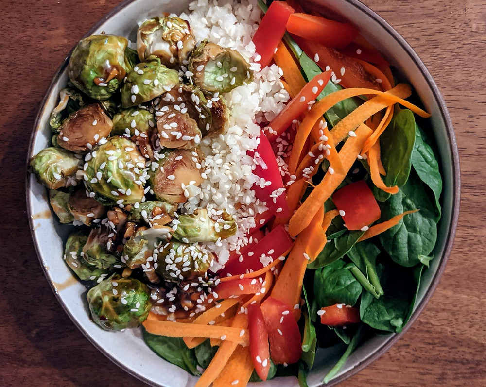Teriyaki Brussels Sprouts Bowls