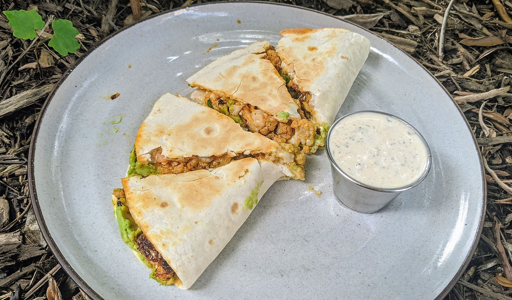 Buffalo Cauliflower Quesadillas