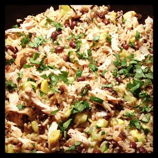 Chicken & Black Bean Smoky Rice Skillet