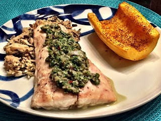 Baked Rockfish with Caper Chimichurri