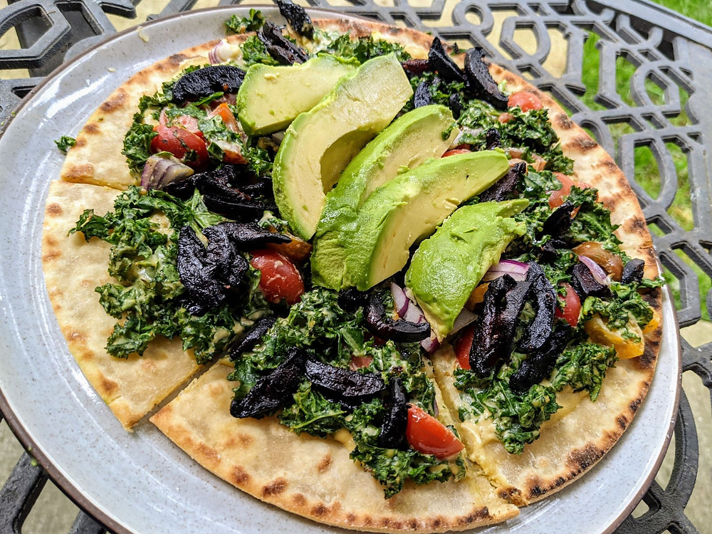 Kale Caesar Salad Pizza