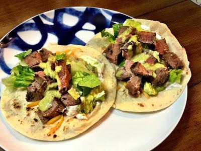Bison Flank Steak Tacos