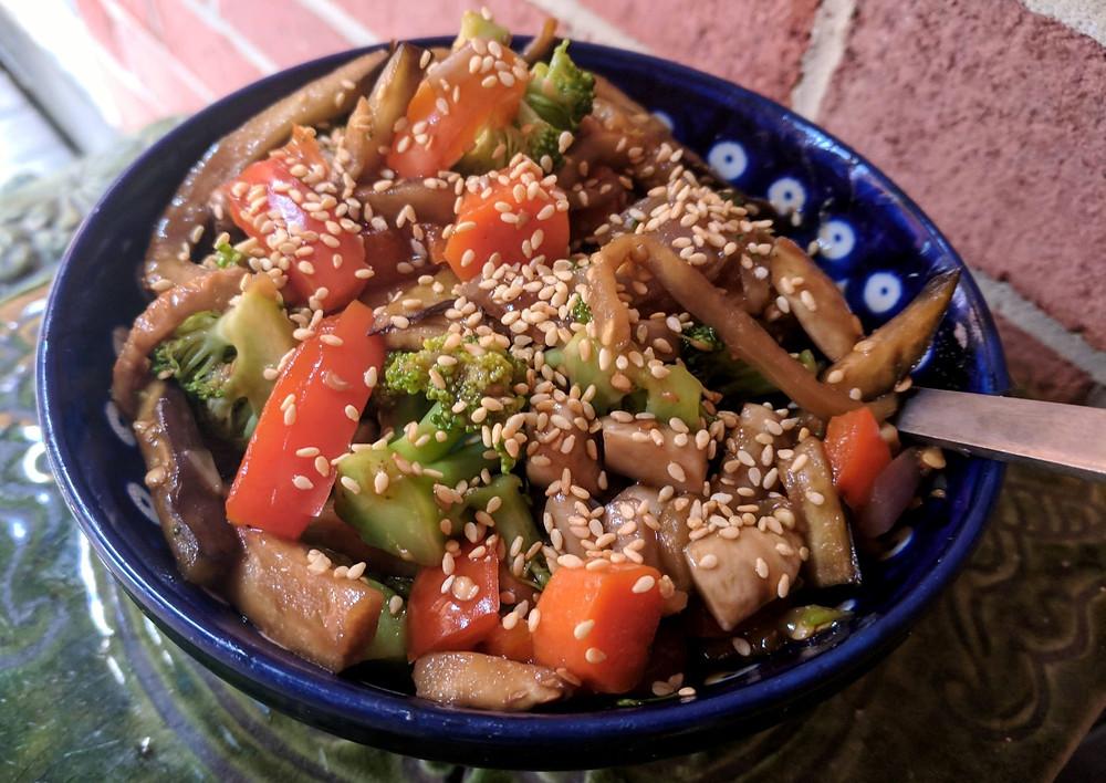 eggplant noodle lo mein